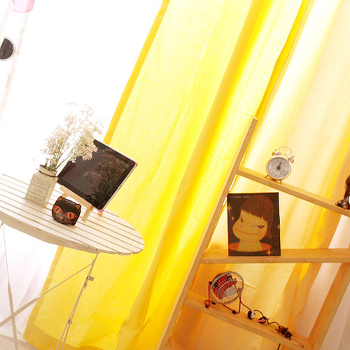 coloration metal ring curtain- yellow
